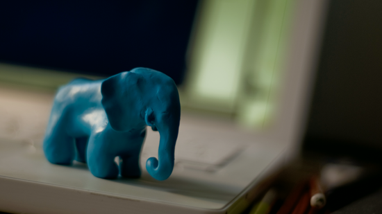 Fimo clay elephant prototype